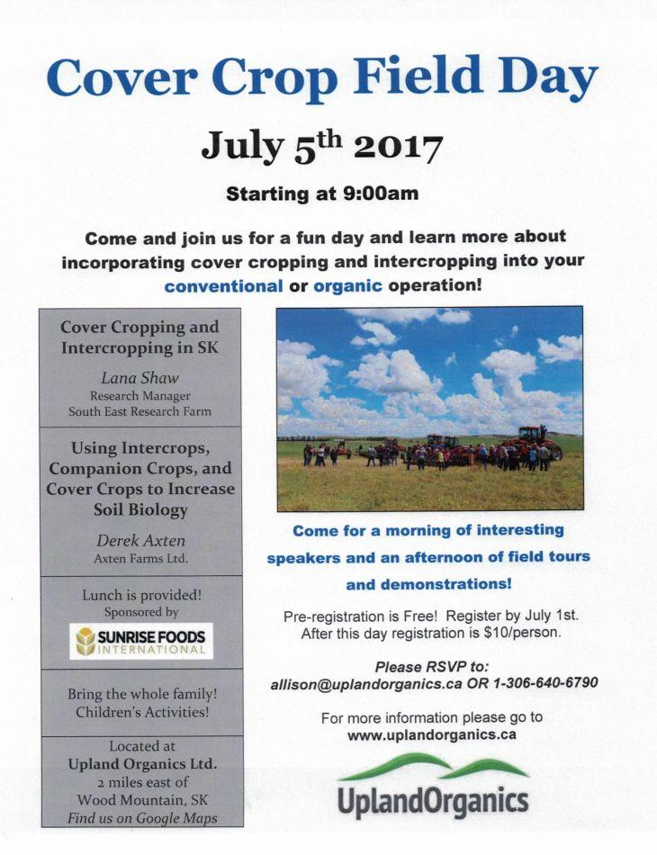 Field Day Poster_Upland Organics_2017